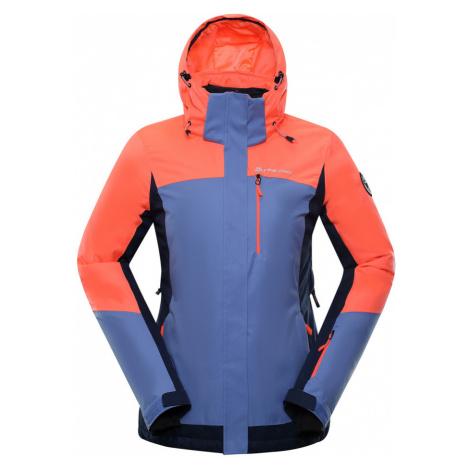 ALPINE PRO SARDARA 3 Dámská lyžařská bunda LJCP352341 Neon coral