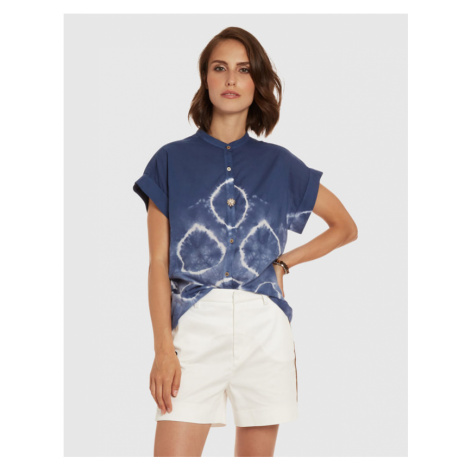 Halenka La Martina Woman Shirt Short Sleeves Ligh - Modrá