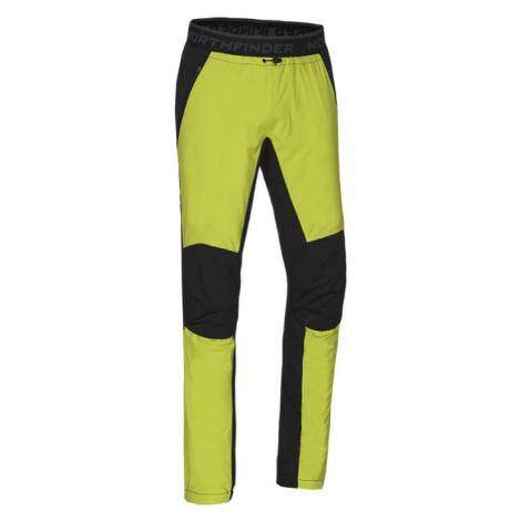 NORTHFINDER PIETRO Pánské funkční hybridní kalhoty NO-3550SNW273 černo-zelená