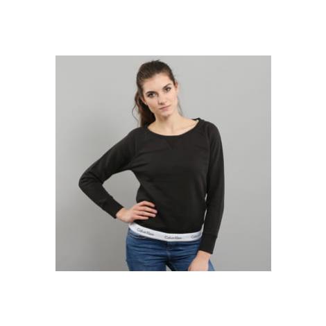 Calvin Klein Top Sweatshirt Long Sleeve C/O černá