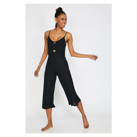 Koton Women Black Sleeveless Strappy Jumpsuit