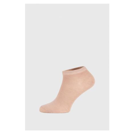Béžové bambusové ponožky nízké GINO