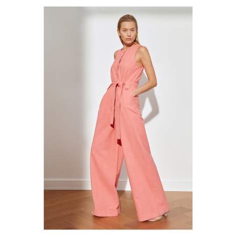 Trendyol Pink Belted Overalls