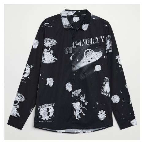 Cropp - Košile s potiskem Rick&Morty - Černý