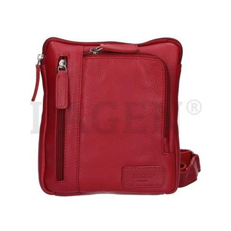 Lagen CB-003 červená dámská kožená kabelka Červená