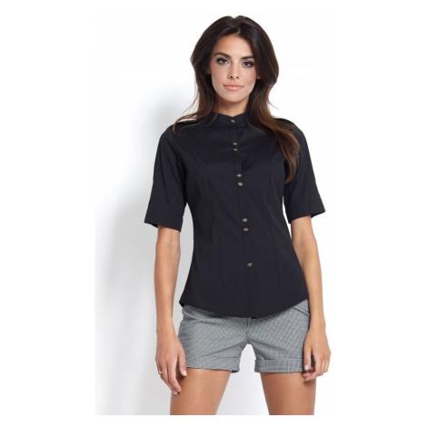 Dámská vypasovaná košile v černé barvě B44 IVON