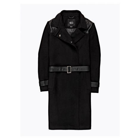 GATE Dlouhý kombinovaný kabát s páskem