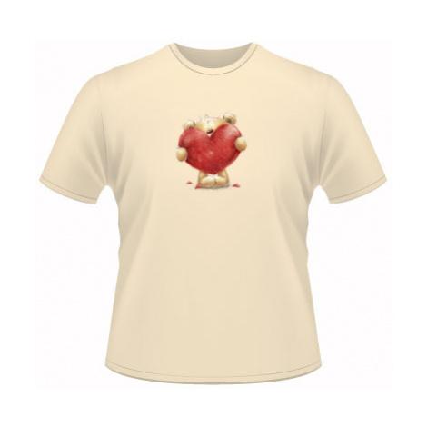 Pánské tričko SuperStar Teddy with heart