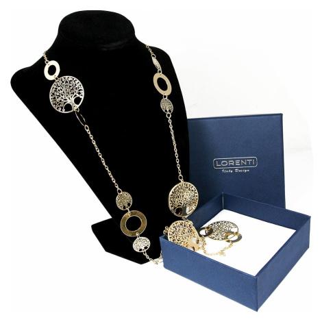 Prolamovaný dlouhý náhrdelník Lorenti