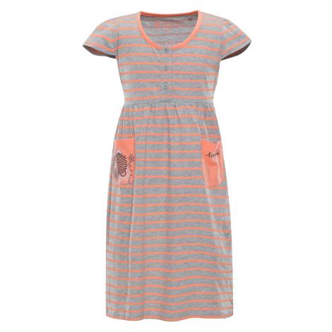 Dětské šaty Alpine Pro SARKO - lososová