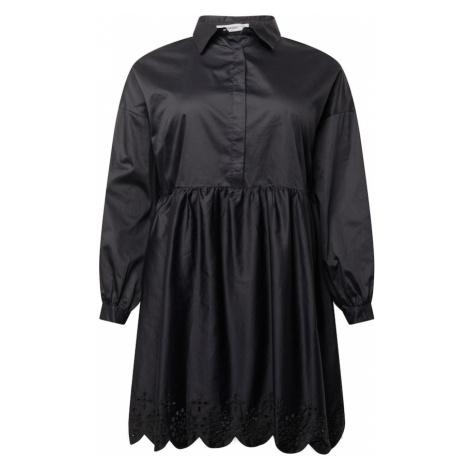 GLAMOROUS CURVE Košilové šaty 'AN3877X' černá