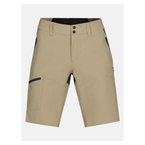 Šortky Peak Performance W Light Ss Carbon Shorts - Hnědá