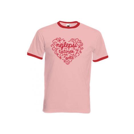 Pánské tričko s kontrastními lemy Nejlepší tatínek na světě