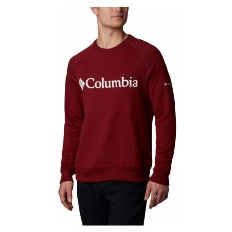 Columbia LODGE CREW červená - Pánský outdoorový svetr