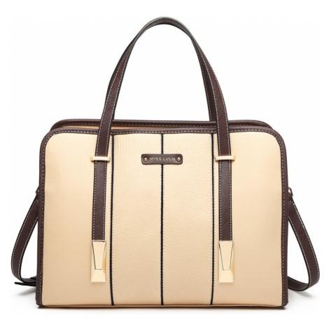 Béžová taška přes rameno Panel