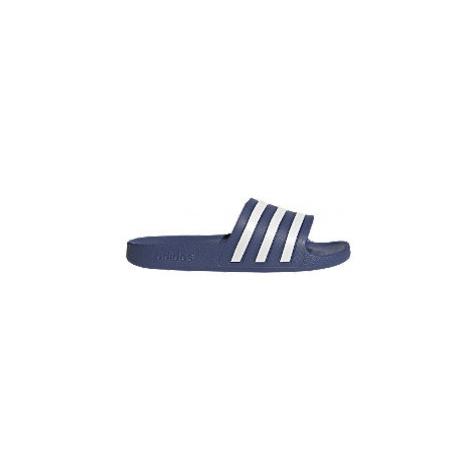 Modro-bílé pantofle adidas