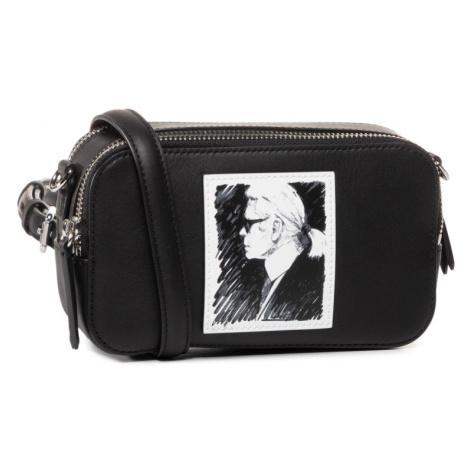 Černá kožená kabelka - KARL LAGERFELD | legend