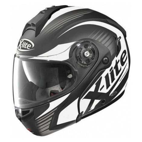 Moto helma X-Lite X-1004 Nordhelle N-Com Flat Black-White Barva černo-bílá