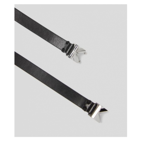 Opasek Karl Lagerfeld K/Signature Small Sparkle Blt - Různobarevná
