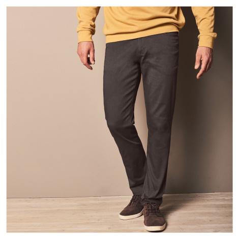 Blancheporte Rovné tvilové kalhoty s 5 kapsami, bavlna kaštanová