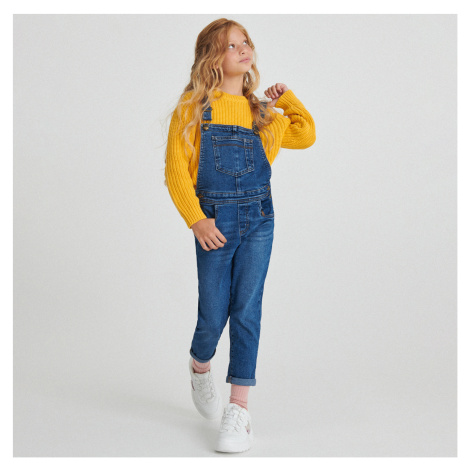 Reserved - Džínové kalhoty s laclem - Tmavomodrá