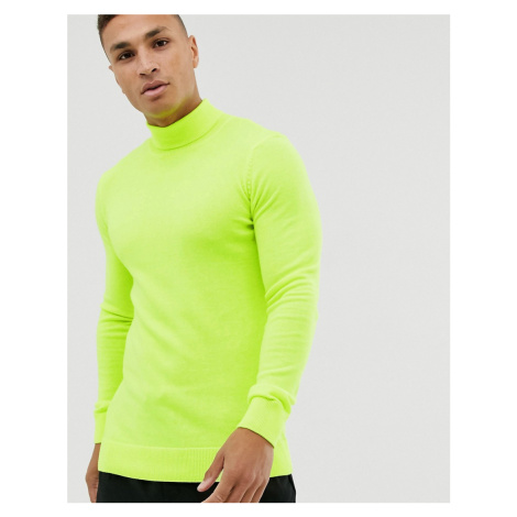 New Look roll neck in neon yellow