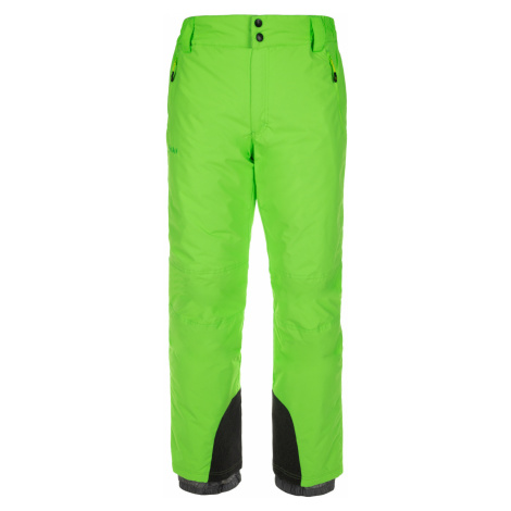 KILPI Pánské lyžařské kalhoty - větší velikosti GABONE-M LMX047KIGRN Zelená