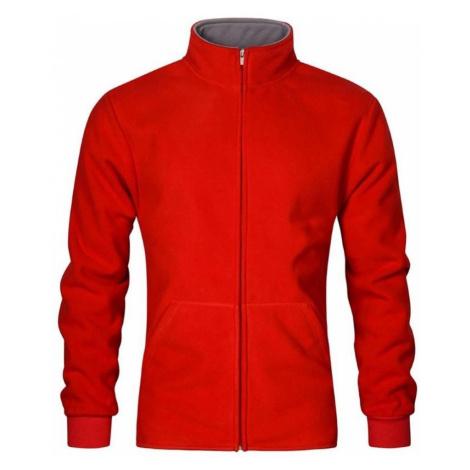 Pánská dvojitá fleece bunda P7971 - Červená