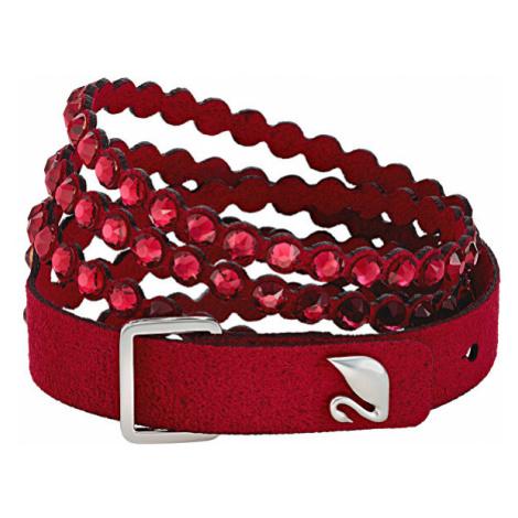 Swarovski Červený Alcantara náramek s krystaly Swarovski Power 5511701,