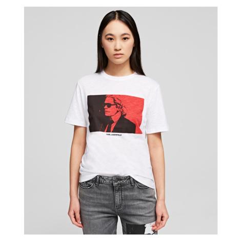 Tričko Karl Lagerfeld Karl Legend Colorblock T-Shirt - Bílá