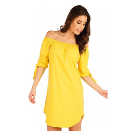 Dámské šaty s krátkým rukávem Litex 5A090 | žlutá