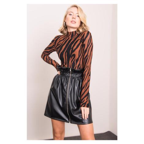 BSL Black eco leather skirt