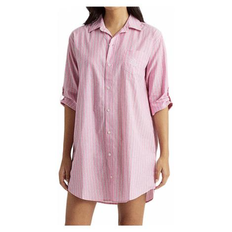 Ralph Lauren dlouhá košile ILN32055 růžová - Růžová