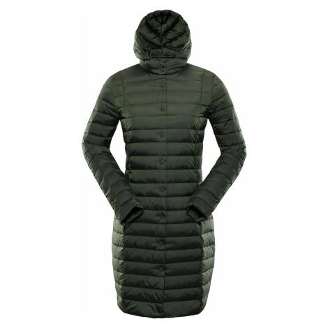 Dámský kabát Alpine Pro KORA - tmavě zelená