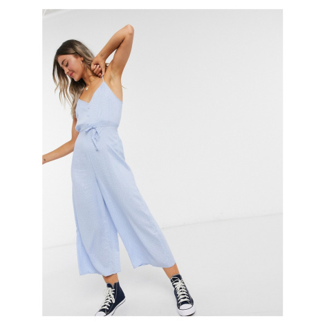 Miss Selfridge jumpsuit in blue spot