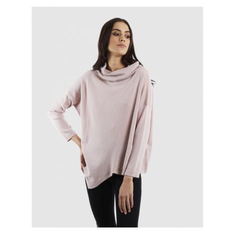 Svetr La Martina Woman Tricot Wool/Cashmere/Vis - Růžová