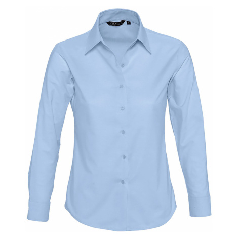 SOĽS Dámská košile EMBASSY 16020220 Sky blue SOL'S