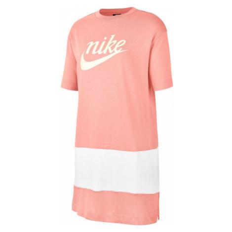 Nike SPORTSWEAR VARSITY oranžová - Dámské šaty
