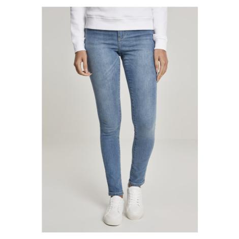 Ladies High Waist Skinny Jeans - black wash Urban Classics