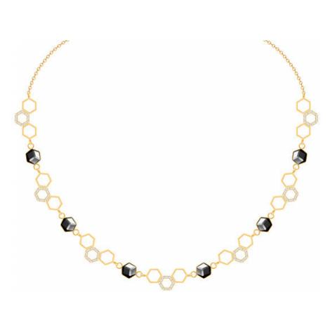 Preciosa Zlatý ocelový náhrdelník s křišťálem Honeygon 7380Y48