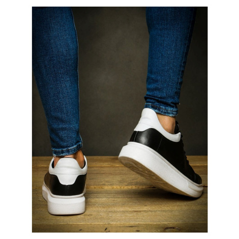 Black and white men's sneakers ZX0120 DStreet