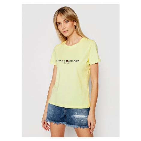 Tommy Hilfiger dámské žluté tričko