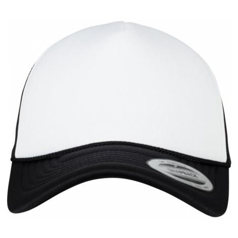 Foam Trucker Cap Curved Visor - black/white/black