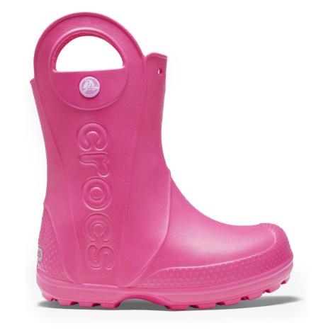 Crocs růžové dívčí holínky