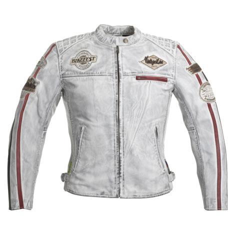 Dámská Kožená Moto Bunda W-Tec Sheawen Lady White Bílá