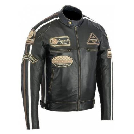 Kožená Moto Bunda Bos 2058 Antique Black Černá
