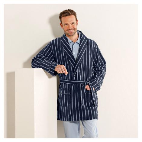 Blancheporte Domácí kabát z polar fleecu proužky šedá