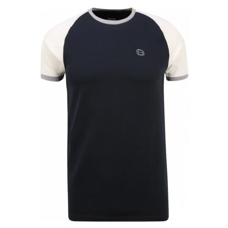 BURTON MENSWEAR LONDON Tričko námořnická modř / bílá / šedá