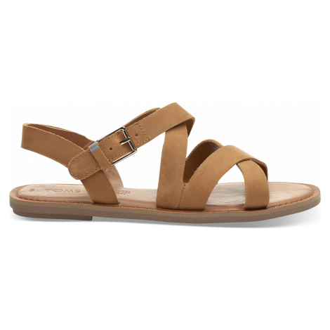 Tan Leather Women Sicily Sandal Toms