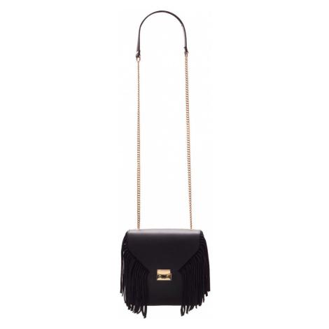 Dámská luxusní kožená kabelka přes rameno - černá Glamorous